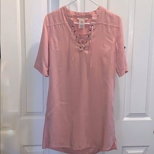 Philosophy Light Pink Tencel Dress